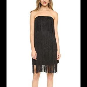 Club Monaco black fringe dress size 00